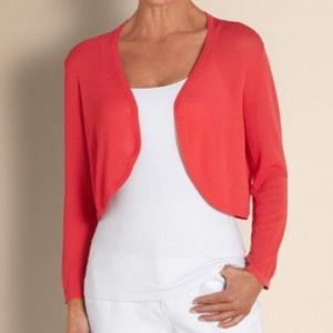 Soft Surroundings Rio Bolero Topper Open Cardigan
